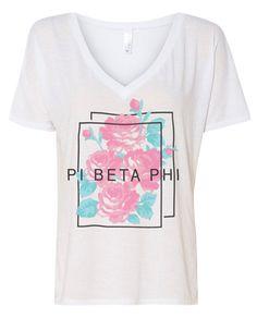 1083 Pi Beta Phi Slouchy V-neck - MetroGreek