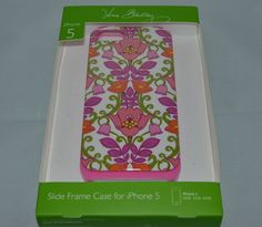 $38 Vera Bradley iPhone 5 Slide Frame Hard Plastic Case Lilli Bell #VeraBradley