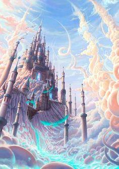 die Fantasie= fantasy, make-believe (noun)/ Fantasie-, imaginär (adj) ? a make-believe world= eine Fantasie- or Scheinwelt : die Fantasie= fantasy, make-believe (noun)/ Fantasie-, imaginär (adj) ? a make-believe world= eine Fantasie- or Scheinwelt Fantasy City, Fantasy Castle, Fantasy Places, Fantasy World, Dream Fantasy, Dream Art, Fantasy Art Landscapes, Fantasy Landscape, Fantasy Artwork
