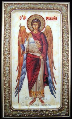 Archangel Michael Religious Icons, Religious Art, Greek Icons, Pictures Of Jesus Christ, Archangel Gabriel, Queer Art, Byzantine Icons, God Pictures, Angel Art
