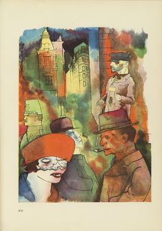 George Grosz. Plate XVI from Ecce Homo. 1922-1923 (reproduced drawings and watercolors executed 1915-22)