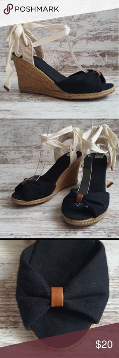 d08f10be696f8 🔵ASOS Black Espadrille Lace Up Wedge Classic and timeless style with a  Boho or Indie