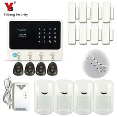YobangSecurity WIFI Alarm System G90B Touch Keypad Home Security Alarm System Android IOS APP Gas Leakage Smoke Detector