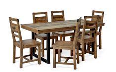 Produktbild - Woodenforge, Matgrupp med 6 stolar