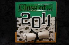 Graduation Flip Fold Album -customize year and school colors.  Great for a graduation gift holding more than 20 photos.  Customize one for your graduate