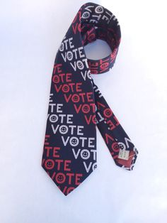 A personal favorite from my Etsy shop https://www.etsy.com/listing/251113732/political-vote-necktie-in-red-white-and