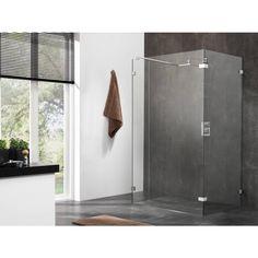 Deze inloopdouche is perfect voor een moderne badkamer.    Sealskin Optix 700 Inloopdouche type C1K 120x200cm Chroom-zilver hoogglans/Helder glas (antikalk)