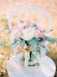 Pink and Gold Wedding Inspiration | Style Me Pretty