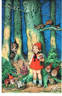 Red Riding Hood. I love illustrations from old children's books.