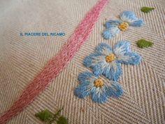 Il Piacere del ricamo: Punto pittura con il punto erba