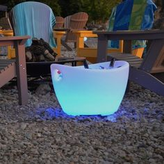 Maui LED Ice Chest with Handles #Chest, #LED, #Modern