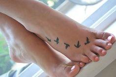 bird flying tattoo f
