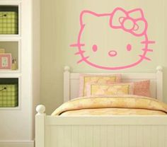 Buy VINYL DECAL - HELLO KITTY - WALL ART for R105.00