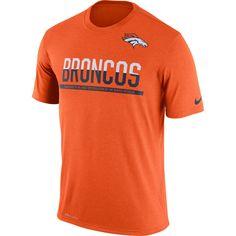 63ac5d6a9f4e9 Denver Broncos Nike Men's Orange Team Practice Legend Performance T-Shirt  Nfl Broncos, Denver