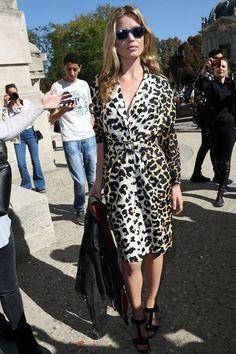 Georgia May Jagge. Leopard Print #PFW streetstyle