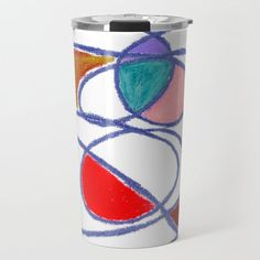 Doodle: Abstract tangled lines Travel Mug by beebeedeigner Best Water Bottle, Stay Hydrated, Drinking Water, Tangled, Travel Mug, Doodles, Mugs, Abstract, Design