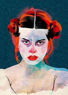 Natassja Kinski by alvaro tapia hidalgo, via Flickr. I love the vibrant colors mixed with the washiness of the skin tones. Too bad it doesn't say what mediums he uses.