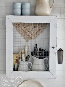 Knick of Time: DIY Primitive Cupboard from a Repurposed Wooden Crate and Frame