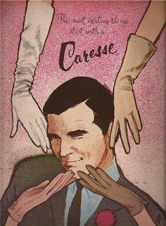 Illustration Vintage - Gants Caresse - Gruau