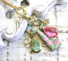 Beautiful handpainted key necklace by TheVintageHeart