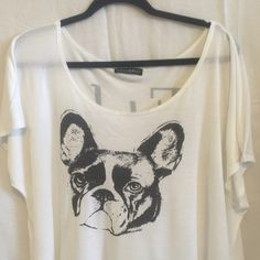 adorable French Bull Dog tee-shirt by Signerelli. Adorable French bullDog tee shirt. Size 1X. Worn, good condition. Tops Tees - Short Sleeve
