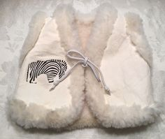 Baby Boy Girl Sherpa Fleece Vest Size 12-24 Month 2T Zebra Tie Ivory Reversible  | eBay