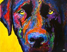 Hombre ciego dibuja el alma de perros como nadie