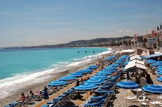 One of the famous Beaches in Nice, French Riviera