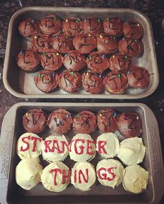 Stranger Things Cupcakes! #strangerthings #eleven