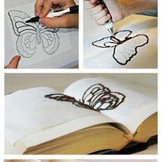 Schoko Schmetterlinge für Torten Dekoration herstellen - soo einfach!