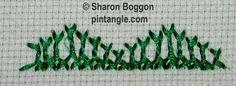 Breton stitch Tutorial. By Sharon Boggon's Pintangle.com. jwt