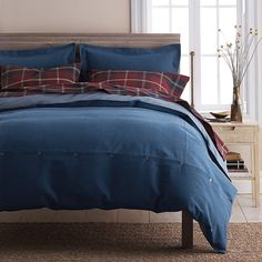 Our versatile Denim Duvet Cover – a laid-back neutral for the bed that pairs back to many looks. Made of soft-washed cotton.