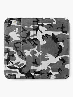 """""""Winter Army camo, camouflage, vector pattern in grey"""" iPhone Wallet by cool-shirts 