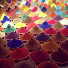 The magic and the fragrance of colors #biennale #venice #biennaledivenezia #colours #art #albertaferrettitravel #india