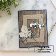 Rooted in Nature His and Hers Layout - Sara Levin - The Artful Inker: Independent Stampin' Up! Card Making Tutorials, Making Ideas, Nature Paper, Thanksgiving Cards, Get Well Cards, Fall Cards, Card Making Inspiration, Masculine Cards, Sympathy Cards
