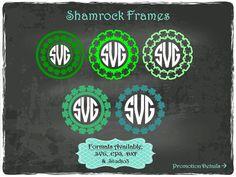 Shamrock Frames in .SVG .EPS .DXF & .Studio3 by TheSVGFontStore
