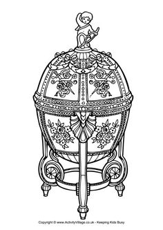 Faberge egg colouring page