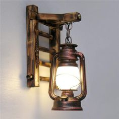 Cheap rustic wall sconces, Buy Quality wall sconce directly from China wall lamp vintage Suppliers: Chinese Styl Bamboo Ladder Wall lamps Vintage barn lantern Rustic Wall Sconces lighting kerosene oil lamp matty fixture Rustic Wall Sconces, Rustic Lamps, Wood Lamps, Rustic Lighting, Wall Sconce Lighting, Candle Sconces, Beacon Lighting, Living Room Wall Lighting, Corridor Lighting