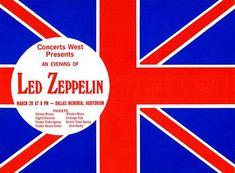 Led Zeppelin - Dallas Memorial Auditorium TX - 1970 - Concert Poster