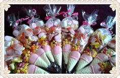 SweetnGroovystuff Sweet Cones, perfect alternative to a party bag for party guests/ Wedding favours