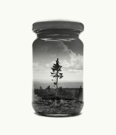 """""""For over a year now I've been collecting landscapes in jars using analog double exposures—in this project I have realized a childish dream. I play with the idea of being an ambitious collector; conserving my environments into a large personal collection..."""" - christofferrelander #Photography"""