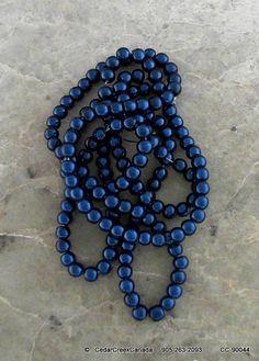 Indigo Blue 6mm Round Glass Beads by the by CedarCreekCanada