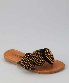 Another great find on #zulily! Black Heart Play Flip-Flop by QQ Girl #zulilyfinds