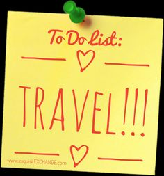 To do list: Travel