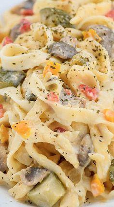 Fettuccine Alfredo Primavera Pasta