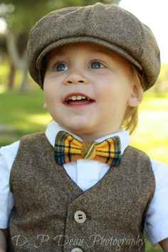 Baby boy - Boys Vest - Newsboy Hat - Bow Tie - Ring Bearer - Baby boy photo prop - photo prop - spring - four tiny cousins - newsboy outfit via Etsy