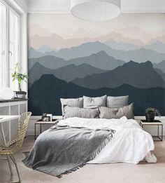 Terrific Mountain Scene Wallpaper Mural Wall Art Mountain Mural Wall Ideas