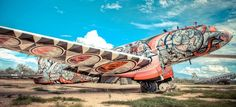 New life to dead aircrafts by best graffiti artists in the world