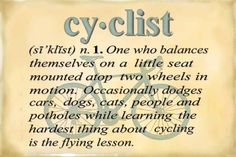 Cyclist Definition Magnet