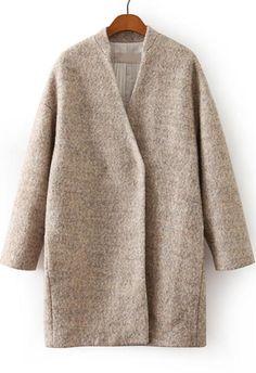 veste en laine manche longue -abricot 34.50